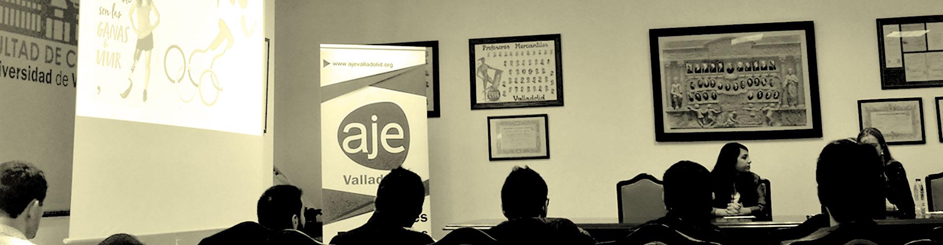 Charla organizada por AJE Valladolid de Desirée Vila sobre superación y motivacion